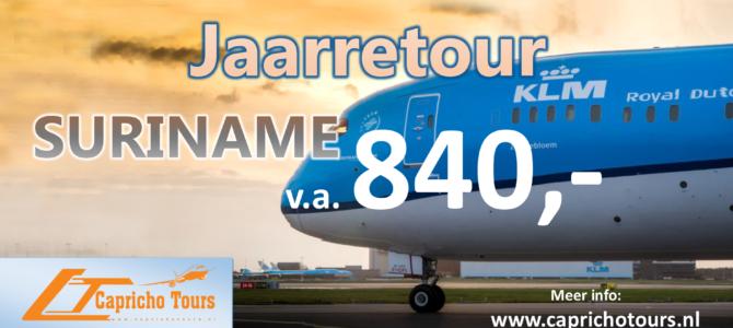 Jaarretour Suriname vanaf €840,- All-in*