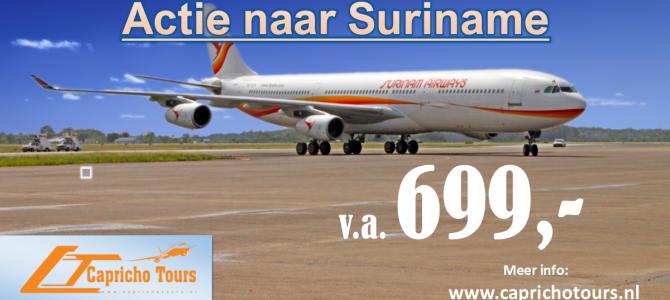 Nazomer actie naar Suriname €699,- All-in*