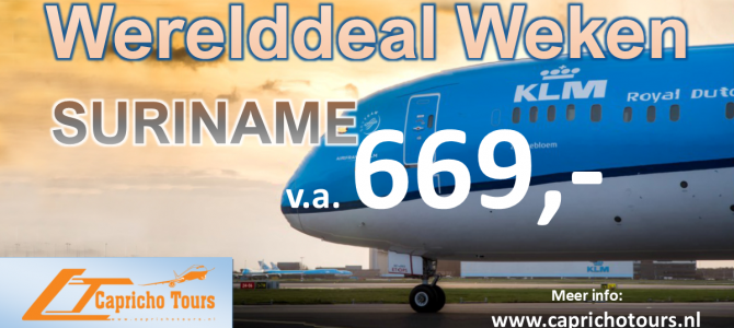 KLM naar Suriname vanaf €669,- All-in*