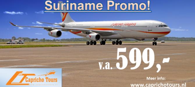 Boek t/m 28 februari Suriname €599,- incl 2x25kg bagage