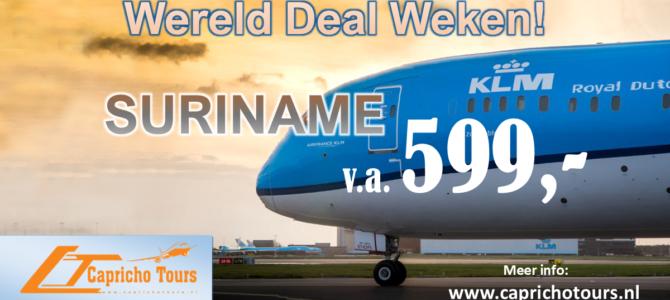 KLM Wereld Deal Weken Suriname vanaf €599- All-in*