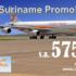 Boek t/m 26 maart Suriname €575,- incl 2x25kg bagage